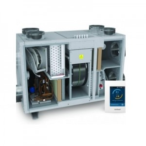 Air handling units with integrated heatpump